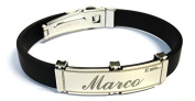 ANGEL CAUCCIU'AND STAINLESS STEEL BRACELET WITH NAME-MY NAME WORKED LASER-IN-BOX-MADE IN ITALY