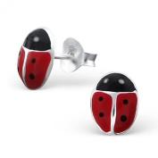 Laimons - Stud Earrings - Kids - 925 Sterling Silver - Ladybird