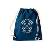 ShirtInStyle Gym Sack Gymnastics bag Home port Anchor Schalke - Blue, 46 cm x 36 cm