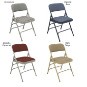 NPS Fabric Upholstered Premium Reinforced Folding Chairs