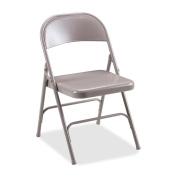 Lorell Beige Steel Folding Chairs