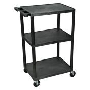 Offex Mobile 3 Shelf Multi Height Presentation AV Cart
