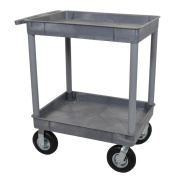 Luxor TC11P8-G Grey 2-tub Cart with 20cm Pneumatic Casters