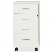 46cm Pearl White 4-drawer Steel File Cabinet