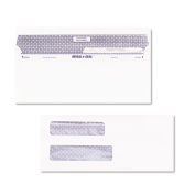 Quality Park White Reveal-N-Seal Double Window Cheque Envelope