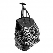 Rollies Classic Zebra Rolling 36cm Laptop Travel Tote Bag