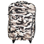 """O3 Kids """"Camo"""" 41cm Rolling Carry On Cooler Upright"""