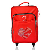 """Obersee Kids """"Flag Heart"""" 41cm Rolling Carry On Cooler Upright"""