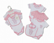 4 Piece Baby Girl Gift Set Pink With Embroidery and Applique - 3/6 Months