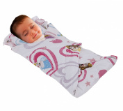 Love2Sleep SOFT TOUCH COTTON RICH BABY SWADDLE BLANKET WITH PADDED PILLOW 0 - 4 MONTHS DESIGN : PRINCESS