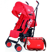 Zeta Citi Stroller Buggy Pushchair - Red Complete With Bag