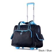 Olympia Rave Deluxe Fashion Rolling Overnighter Carry-on Tote Bag