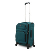 SwissGear SA7297 Teal 50cm Expandable Carry-on Spinner Upright Suitcase