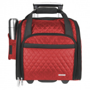 Travelon 36cm Quilted Wheeld Underseat Carry-On Rolling Tote Bag