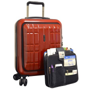 Travellers Club Flex-file 46cm Hardside Double-Spinner Laptop Carry-on