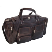 Piel Leather 50cm Duffel Bag with Pockets