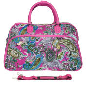 World Traveller Multi Paisley Pink 50cm Carry On Satchel Duffle Bag
