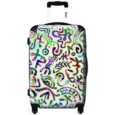 iKase Elegant Tagging 60cm Hardside Spinner Upright Suitcase