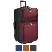 Travel Select by Traveller's Choice Amsterdam 70cm Large Expandable Rolling Upright Suitcase