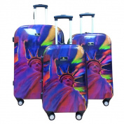 Dominic Pangborn Liberty 3-piece Polycarbonate Hardside Spinner Luggage Set