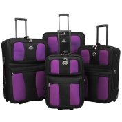 Coronado All Inclusive 4-piece EVA Moulded Expandable Rolling Luggage Set