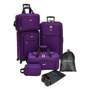 U.S. Traveller by Traveller's Choice Elite 7-piece Expandable Spinner Luggage Set