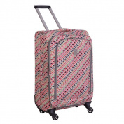 Jenni Chan Tiles 60cm Fashion Spinner Upright Suitcase