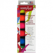 Handy Art Acrylic Paint Kit .2220ml 6/PkgFluorescent