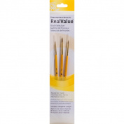 Real Value Brush Set Natural Sable-Round 5/0,0,2