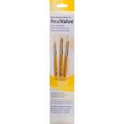 Real Value Brush Set Natural Sable-Round 5/0,0,2