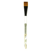 Dynasty Black Gold Series Synthetic Brushes Flat Wash Clear Acrylic Handle