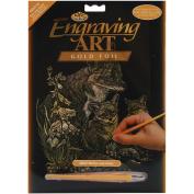Gold Foil Engraving Art Kit 8inX10inFox & Cubs