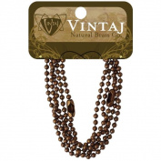 Vintaj Metal Chains 18 2/Pkg - Ball Chain 3.2mm