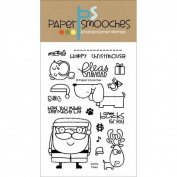 Paper Smooches 4 X6 Clear Stamps - Santa Paws
