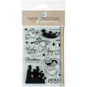Paper Smooches 10cm x 15cm Clear Stamps-A Blessed Christmas