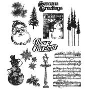 Tim Holtz 'Mini Holidays #0.6m Rubber Stamp Set