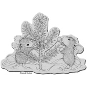 Stampendous House Mouse Cling Stamp - Trim The Tree