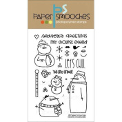 Paper Smooches 4 X6 Clear Stamps - Swanky Snowdudes