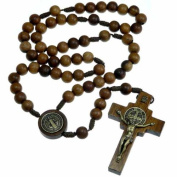 Wooden St Benedict Rosary Beads