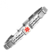 Custom Made two conditions Medical Alert Stainless Steel Bracelet
