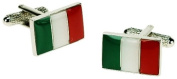 Mens Italian Flag Italy Cufflinks & Gift Box By Onyx Art