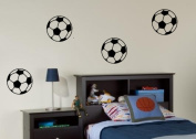 4 x Footballs - Wall Art Decal Sticker boy's bedroom hall living room FREE P & P