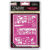 Die'sire Create-A-Card Cutting & Embossing Die-Party Invitation