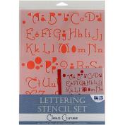 Blue Hills Studio 'Clean Curves' Lettering Stencil 4-piece Set