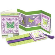 Punch Pairings Large Punch & Coordinating Stamps-Lace Butterfly
