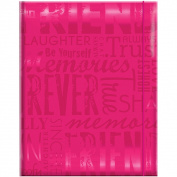 Embossed Gloss 'Friends' Expressions Hot Pink Photo Album
