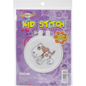 Kid Stitch Doggie Mini Counted Cross Stitch Kit-7.6cm Round 11 Count