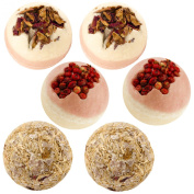 """BRUBAKER 6 Handmade """"Strawberry Wheat"""" Bath Melts Gift Set - All Natural Vegan,Organic Shea Butter, Cocoa Butter and Olive Oil, Skin Softening and Relaxation, Unique Gift for Her,"""