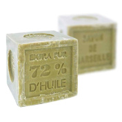 Foufour Natural Vegetable Marseille Verte Olive Oil Soap Cube 300G, French Traditional Receipt
