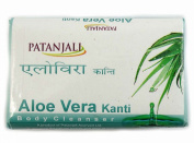 Patanjali Kanti Aloe Vera Body Cleanser Soap, 75g Pack of 3